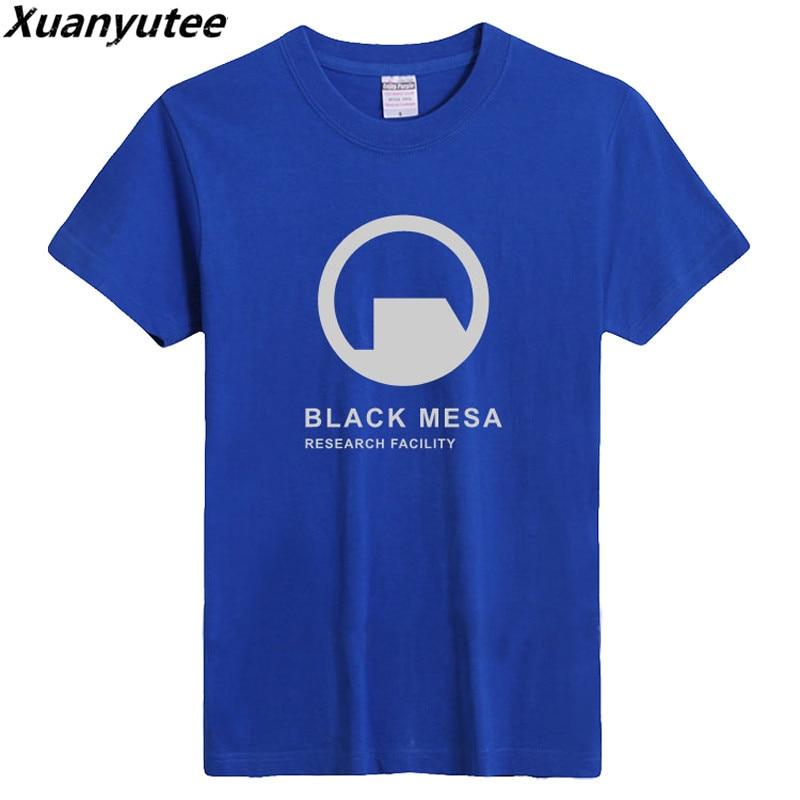 Xuanyutee SummerTop Rate Black Mesa Logo Game T shirt Men Print Research Facility O-Neck Cotton 3XL Short Sleeve Tee Shirt Homme