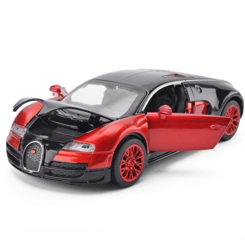 High Simulation 1:32 Bugatti Veyron Racing Alloy Car Model Acousto-optic Vehicles Matal Car Model Classic Car Children Toy Gifts