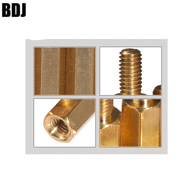 +6 Copper Hexagonal Stud Spacer Hollow Pillars M3* +6mm Original M3 Male 6mm X M3 Female 4-60 Mm Brass Standoff Spacer M3 3-100 3-100
