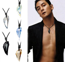 Hot sailing Wolf Tooth Austria Big Crystal with SWA Element Wolf Tooth Pendant Necklace for men  free shipping VB089 P0.40