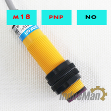 5PCS 3F-DS10P1 Diffuse Type M18   DC6-36V Detection Distance Photoelectric Sensor Optical Sensor цена