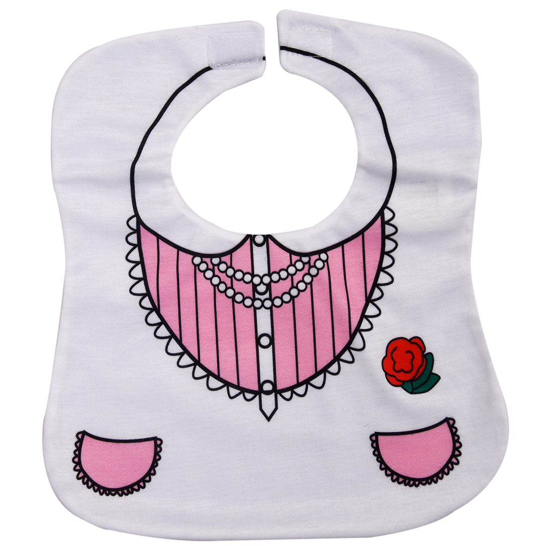White Cute Toddler Nutrition Baby Bib