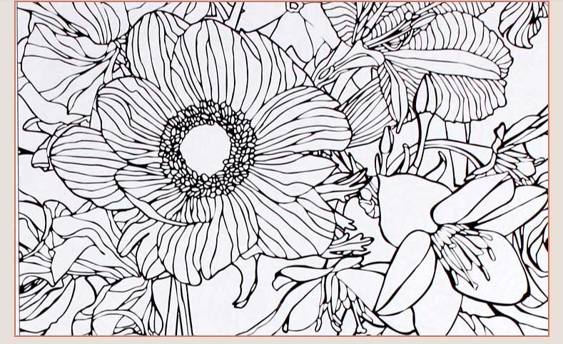 Inspiration Vintage 50 Coloriages Anti Stress Volume 2 Coloring