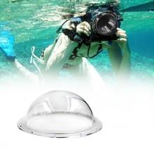 Carcasa impermeable protección fácil de instalar puerto de cúpula transparente fotografía de disparo submarino Universal para Gopro Session #