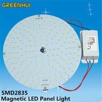 7 W 8 W 10 W 13 W 15 W 18 W 26 W 36 W 65 W, AC110/220 V okrągły Aluminiowy płyta Magnetyczna DOPROWADZIŁY Sufitu Światła LED Panelu Płyty Okrągłe Światło Rury