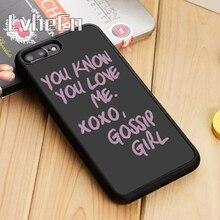 Чехол для телефона LvheCn You Know You Love Me XOXO Сплетница для iPhone 11 Pro X XR XS MAX 5 6S 7 8 Plus samsung s7 s8 s9 s10