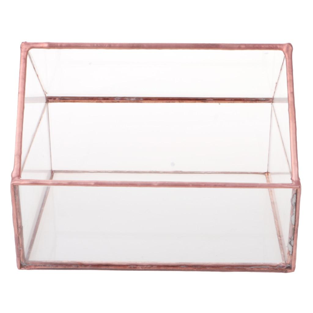 Glass House Terrarium Container Geometric Succulent Planter Wedding