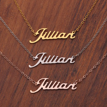 Personalized Name Necklaces Solid Stainless Steel Chokers for Women Fashion Pendant Custom Special Unique Gift for Her(China)