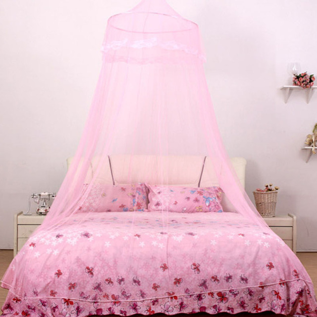 NEW 1pcs Design Bed Canopy Netting Curtain Elegant Round Lace Insect Dome Mosquito Net L2 : lace canopy - memphite.com
