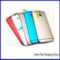 Высочайшее Качество Металла Назад Чехол Для HTC One M8 Мобильный Телефон Задняя Крышка + кнопка Питания Кнопка Громкости, Темно-Серый/серебро/Золото/Синий/Красный