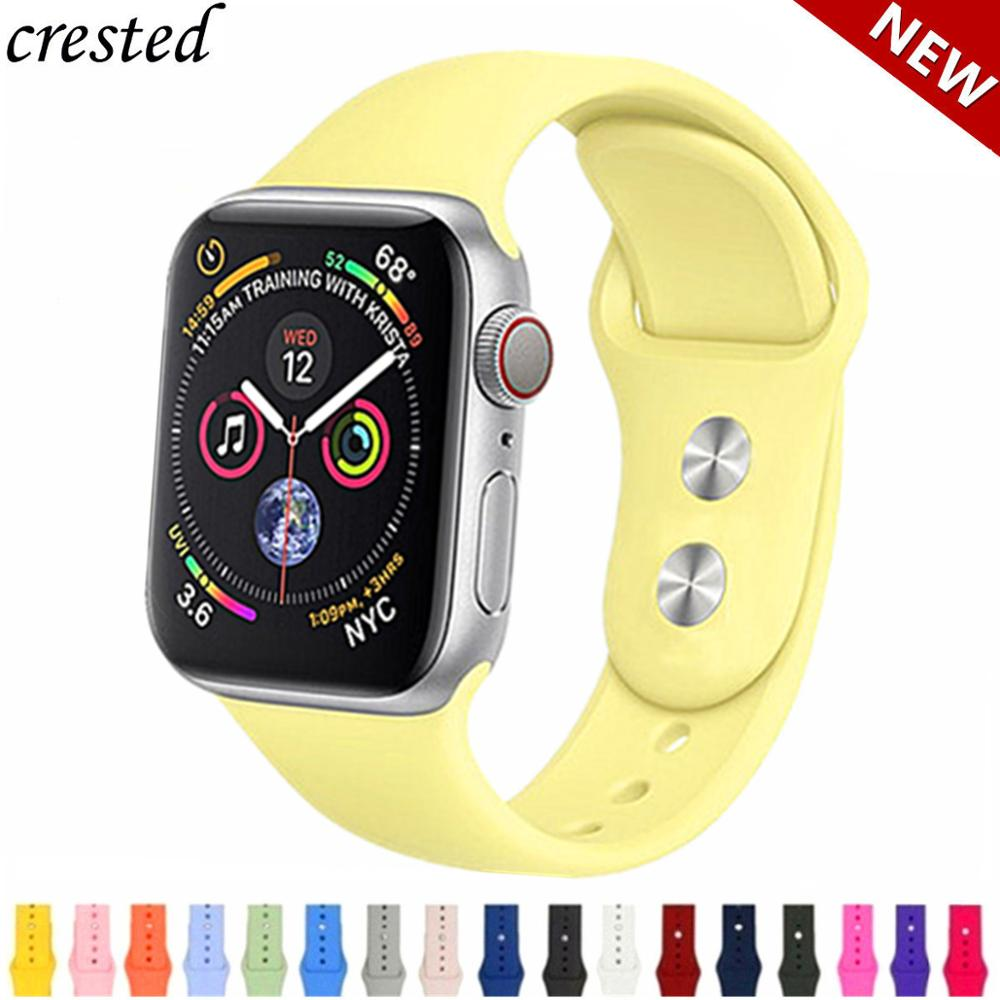Silicone strap For Apple Watch band 42mm 38mm iWatch 4