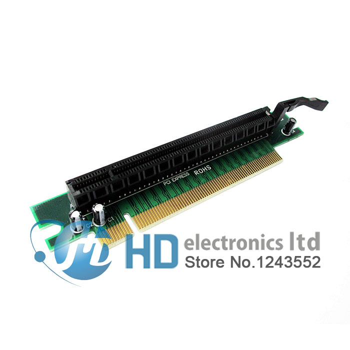PCI-E PCI Express X16 To X16 90 Degree Right Angle Riser Card For 1U 2U PC