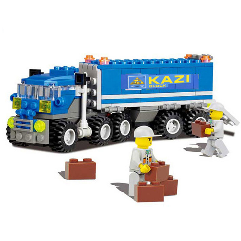 163pcs KAZI Dumper Truck Building Blocks Toy Blocks DIY Toy Bricks Car Learning Educational Model Building Kits Brinquedos new original kazi 6409 city truck model building blocks sets 163pcs lot deformation car bricks toys christmas gift toy sa614