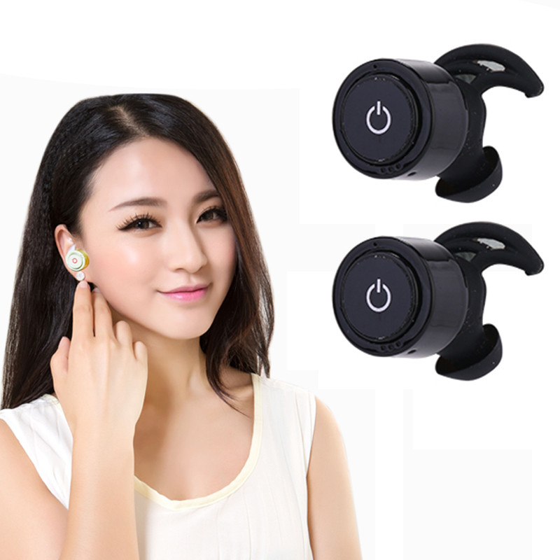 Newest Mini TWS-S08 Twins True Wireless Bluetooth Earphones 4.0+ EDR Handsfree Earbuds bluetooth headset For iOS Phone
