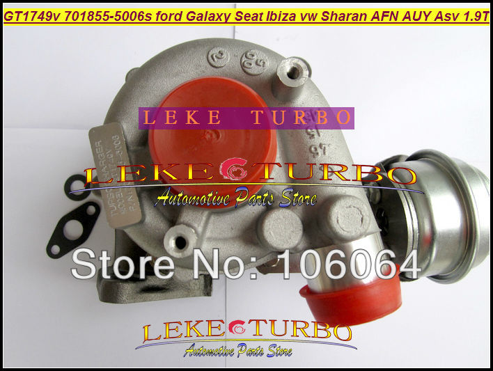 Free Ship GT1749V 701855-5006S 701855 028145702S Turbo For Ford Galaxy Seat Alhambra Ibiza VW Sharan AFN AUY ASV AVG 1.9L TDI
