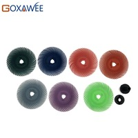 12pcs Radial Bristle Brush Abrasive Brush Dremel Accessories Rotary Tool Metalworking Polishing Brush Multi Colors 80