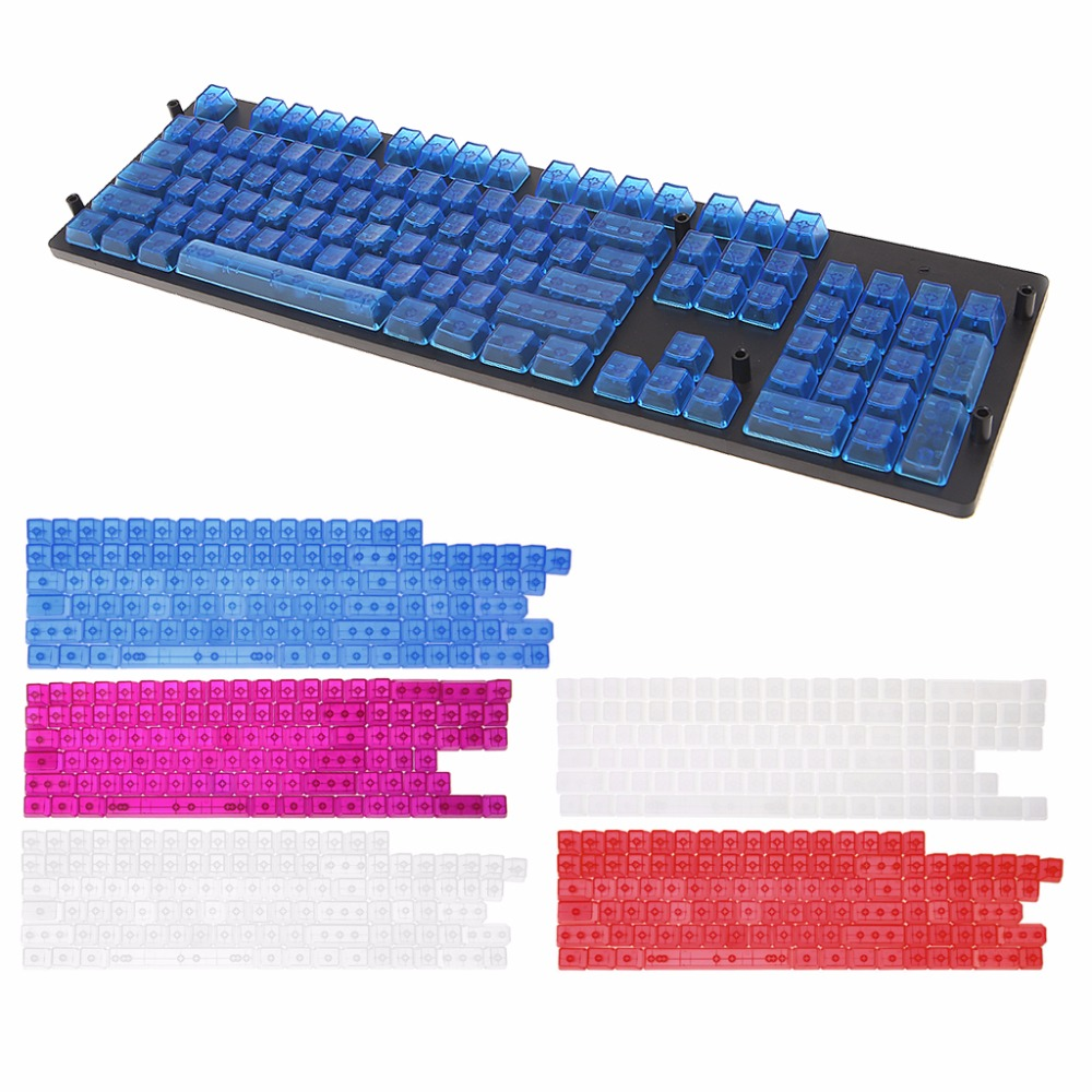 104 Keys Transparent ABS Blank Keycaps For OEM MX Ss