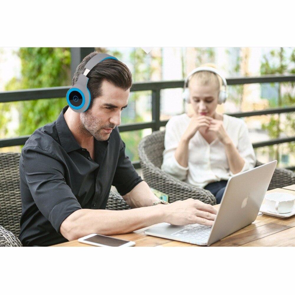 LeadTry Cuffie Bluetooth Stereo Senza Fili Auricolare Stereo bass Noise  Cancelling Headphones Con Micr per il telefono 20 Ore di Musica in LeadTry  Cuffie ... c4c300c0f88f