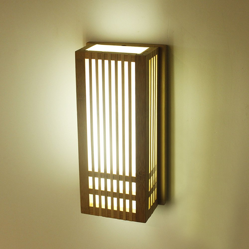 Handmade chinese corridor bamboo led wall lights creative japanese handmade chinese corridor bamboo led wall lights creative japanese balcony wall sconces natural bamboo wall lamp in led indoor wall lamps from lights aloadofball Images