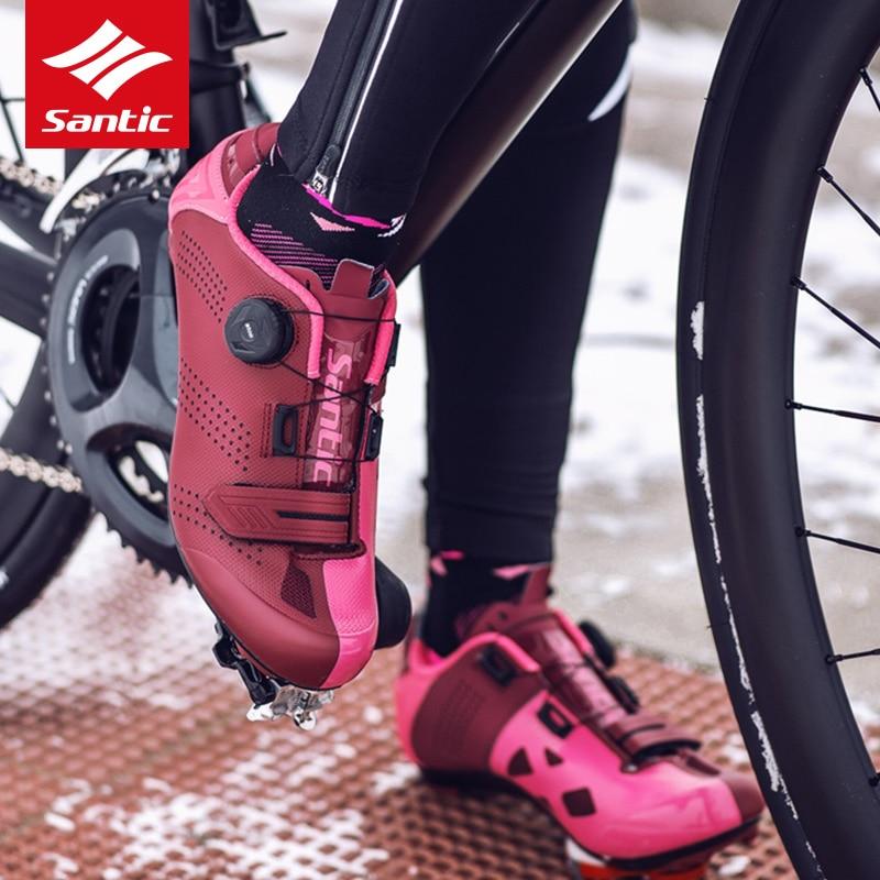 Santic Triathlon Cycling Shoes Road Cycling Shoe Men Triathlon Racing Bike Shoes