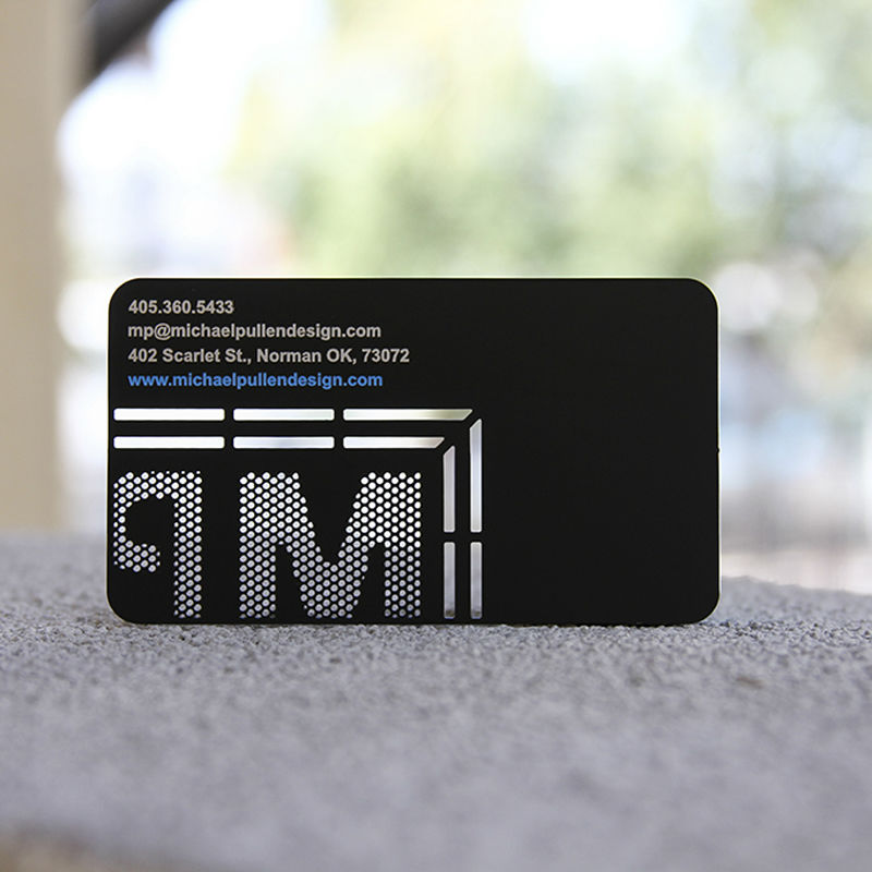 Metal card metal membership card dumb black metal card high-grade business cards personalized custom hollow card