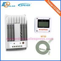 12 volt 10A 10amp mppt solar charging regulator Tracer1215BN 12v 24v auto work with white MT50 remote meter 12v/24v