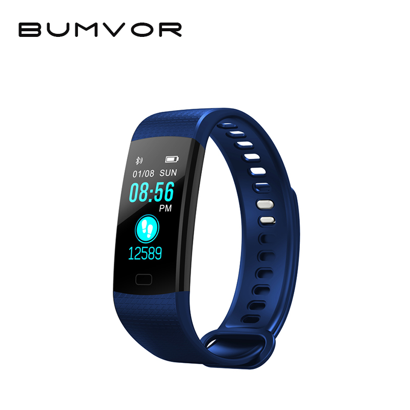 BUMVOR original Y5 Smart Band Watch Color Screen Wristband Heart Rate Activity Fitness tracker Smartband Electronics Bracelet