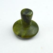 HIMABM Natural olive jade mushroom massage for face beauty relax health body chakra reiking healing stone health tool