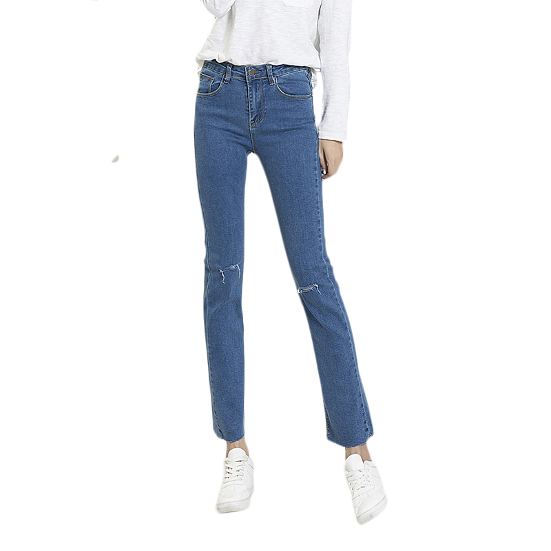 new arrived autumn spring  jeans woman  Slim Fashion Casual denim pants regular elastic High waist Wide Leg jean Pants trousers new autumn jeans woman high waist jean