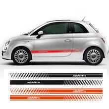 2 шт. для Fiat Abarth 500 595 гоночные полосы Abarth боковые наклейки гонки подходят всем Fiat
