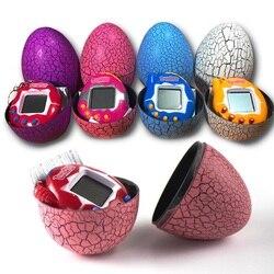 Multi-cores dinossauro ovo tumbler virtual cyber digital animais de estimação eletrônico digital e-pet retro handheld máquina de jogo tamagochi brinquedos