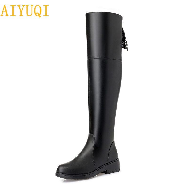 Nouvelles Black Bottes Femmes Chaussures Forme Mode Fourrure 2019 lFJKc1