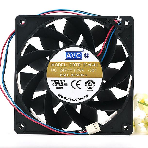 AVC DBTB1238B4U DC 24V 1.76A 12CM 12038 120*120*38MM 3-wires inverter cooling fan