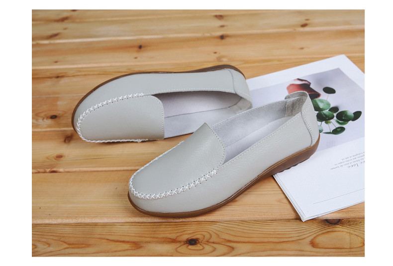 XY 518-2019 Genuine Leather Women's Shoes Soft Woman Loafers-15