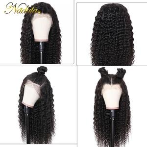 Image 4 - Nadula 머리 13*4/13*6 딥 웨이브 레이스 프런트 인간의 머리가 발 여성을위한 브라질 레미 헤어 스위스 레이스가 발 평균 크기