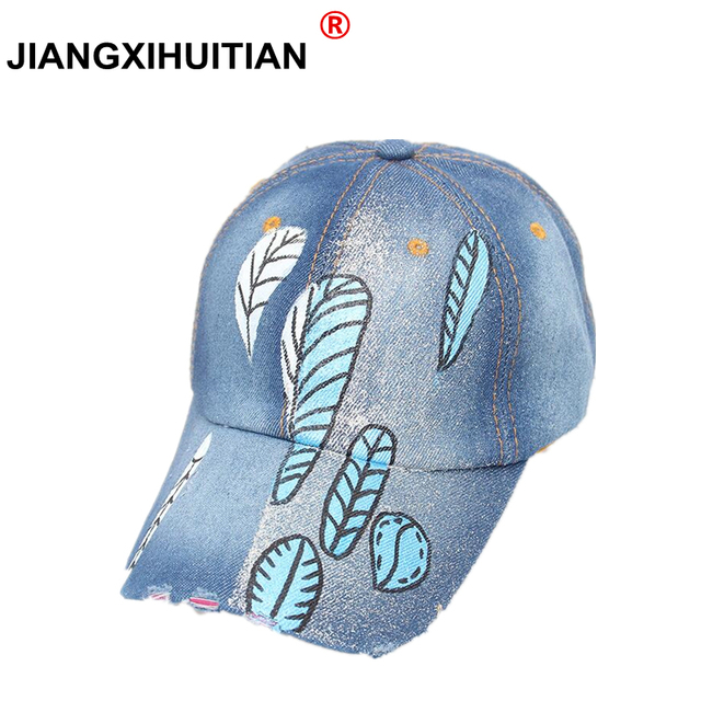89b86a30147 new Unisex Cowboy feather Baseball Cap Fall Casual Snapback Hats For Men  And Women Outdoor Sport