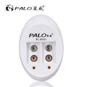 Image 1 - פאלו 9V סוללה מטען עבור 9V 6F22 ליתיום יון Ni Mh Ni Cd סוללה האיחוד האירופי Plug 9V USB מטען