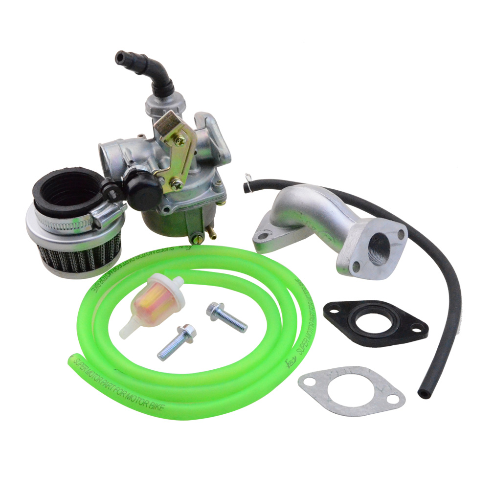 GOOFIT Red pz19 Carburetor Air Filter Rebuild Kit 50cc 110cc 125cc Moped ATV green N090-230