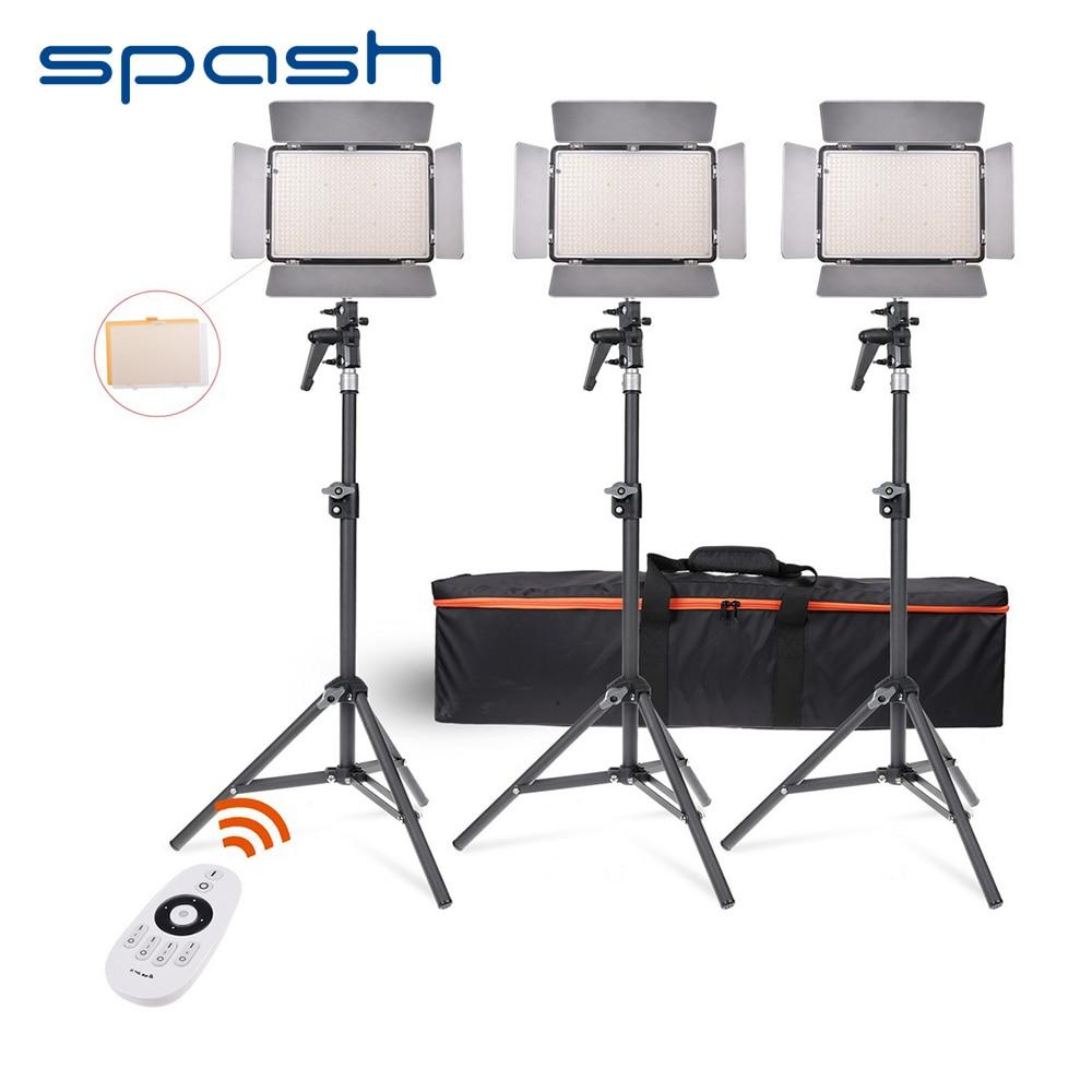 spash TL-600S LED Video Light 3 in 1 Kit Dimmable Photographic Lighting Studio LED Light Lamp 600 LED 3200K/5500K Remote Control keyshare dual bulb night vision led light kit for remote control drones