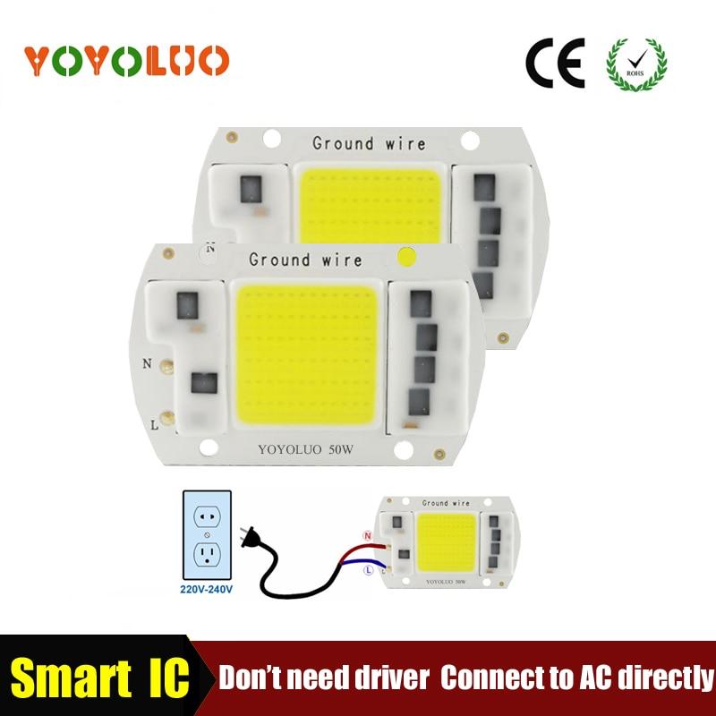 [Yoyoluo] светодиодный лампы Чип 5 Вт 20 Вт 30 Вт 50 Вт 220 В 230 В 240 В вход смарт-ic драйвера, пригодный для DIY холодной теплый белый светодиодный лампы Spotlight