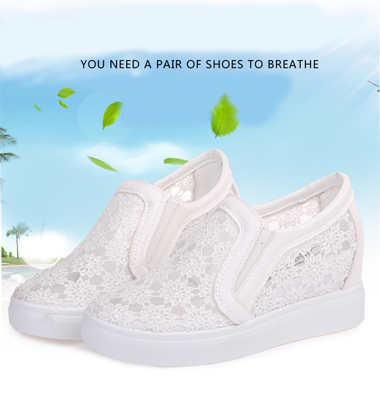 SWYIVY Women Walking Shoes Platform Leather 8CM Height Increasing 2018  Thick Soles Sequin Lace Women Sports Shoes Mixed ColorUSD 35.01 pair 7f34d362517e