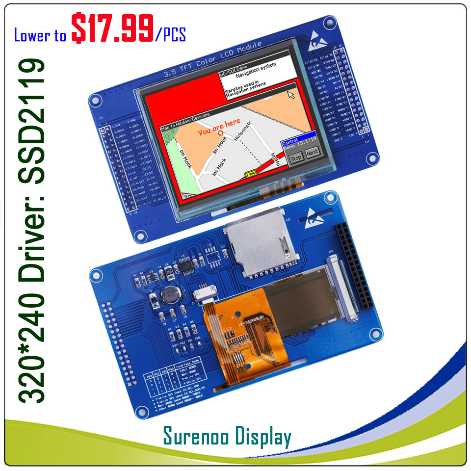 3.5 inch 320*240 TFT LCD Module Display Screen with Touch Panel Driver IC SSD2119 for STM32 Board3.5 inch 320*240 TFT LCD Module Display Screen with Touch Panel Driver IC SSD2119 for STM32 Board