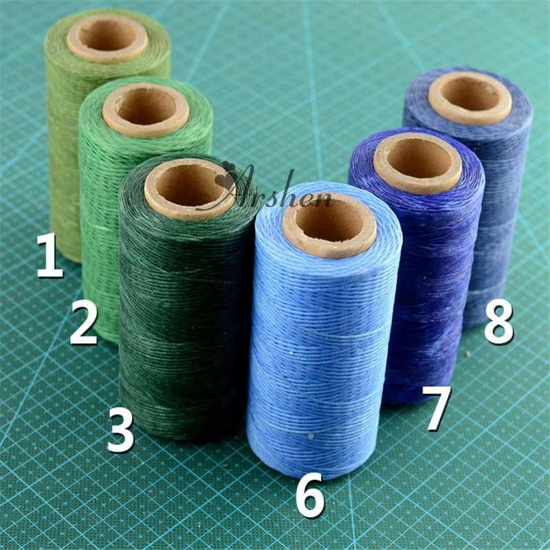 cucito fai da te 250 m 1 mm multicolore cuoio filo cerato piatto 150D