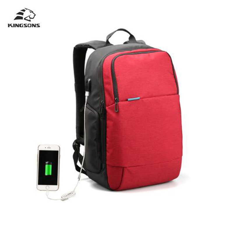 Kingsons External USB Charge Laptop Backpack Anti-theft Notebook Computer Bag 15.6 inch for Business Men Women Casual Daypacks kingsons external charging usb function school backpack anti theft boy s girl s dayback women travel bag 15 6 inch 2017 new