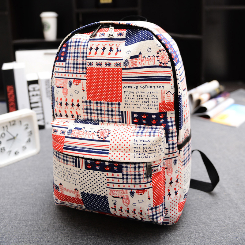 2017 Vintage Fashion Canvas Backpacks for Teenage Girls Middle School Students School Bag Women Men Laptop Backpack Mochila