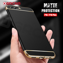 Full Body Protection Matte Back case For Huawei P10 P9 Plus 3 in1 Hard PC Case For huawei P9 P10 Lite 2017 Protection cover