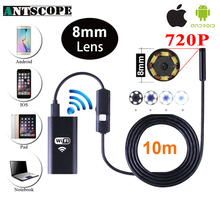 Antscope 720P 1m/2m/3.5m/5m/10m Wifi Endoscope Camera Soft And Hard Wire Waterproof Android Iphone iOS Inspection camera 30