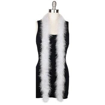 1 pcs Bianco Colori 2 Metri di Spessore Marabù Boa di Piume Per Burlesque Boa del Vestito Operato Del Partito