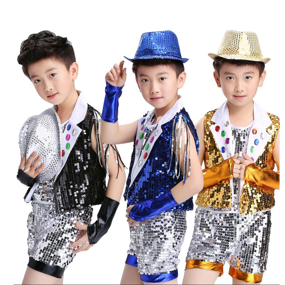 78019090c Hip Hop Dance Costume Kids Boys Jazz Costumes Girls Street Dance ...