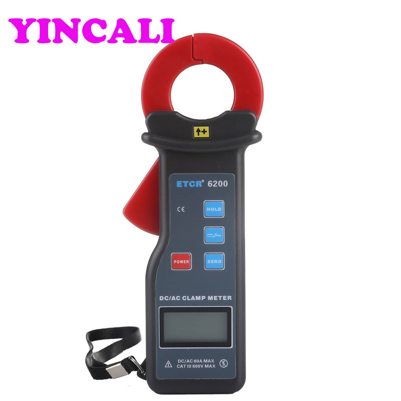 AC/DC Leakage Current Clamp Meter ETCR6200 Current Meter High Accuracy Car leakage current clamp meter Measurement 0-60A цена